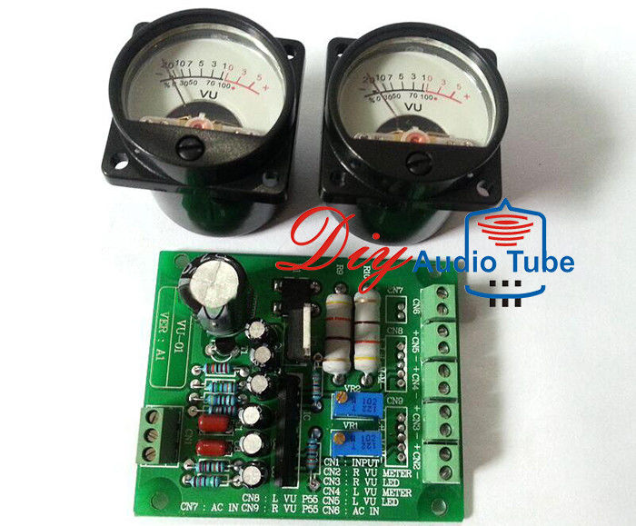 SO-39 500VU Analog VU Meter , Vintage Amp Parts Stereo Driver PCB Board For HIFI DIY