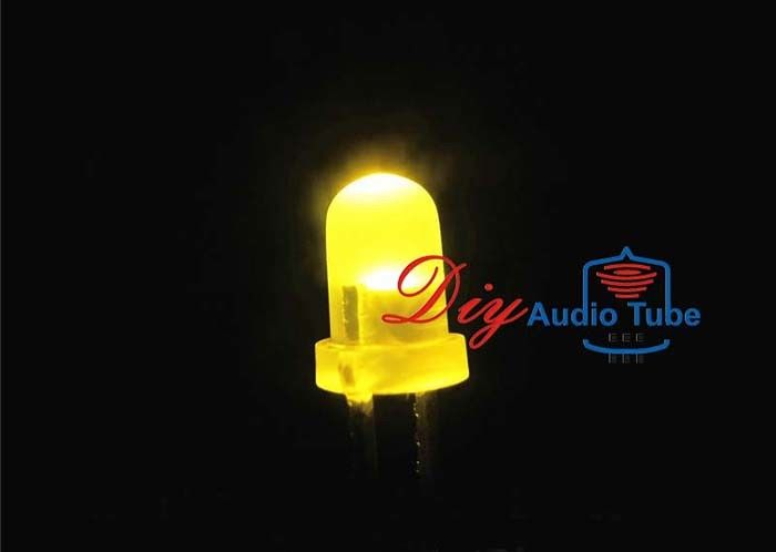 3MM Diffused DIY LED Diode Yellow Single Color Lighting 50000h Long Lifetime